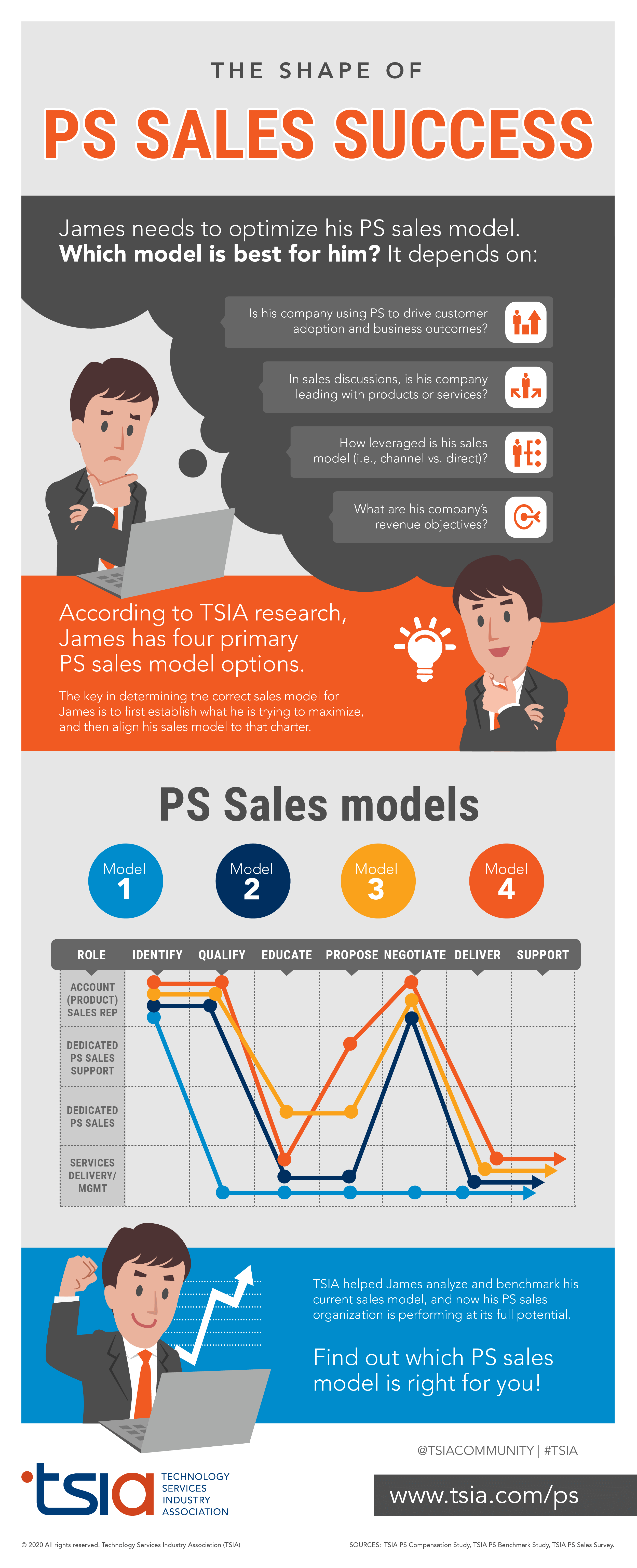 Professional Services Sales Model Infographic