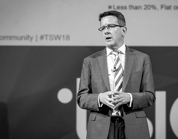 Martin Dove speaking at TSW